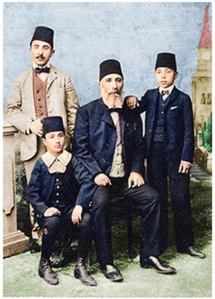 Amin Ali Bedirxan and his sons Sureya & Kamuran & Celadet