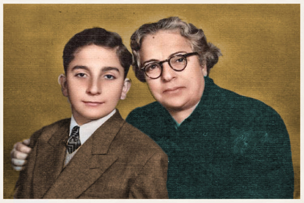 Rewshen Bedirxan and her son Jamshed